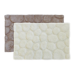 Sherry Kline - Sherry Kline Stone 21 x 32 Bath Rug - Add a glamorous feel to your bathroom with this plush bath rug. Constructed of 100-percent cotton,this rug feels very comfortable to your feet. Available in two color options,this mat features a stone pattern and is machine-washable for convenience.