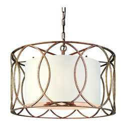 Troy Lighting - Troy Lighting F1285SG Sausalito Ceiling Pendant - Transitional Ceiling Pendant in Silver Gold from the Sausalito Collection by Troy Lighting.