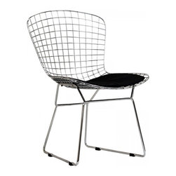 Modway Imports - Modway EEI-161-BLK CAD Dining Side Chair In Black - Modway EEI-161-BLK CAD Dining Side Chair In Black