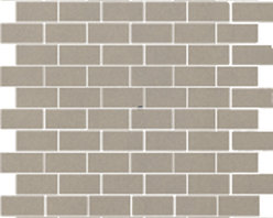 The Standard Collection Taupe Gray 1x2 Mosaic -