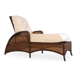 Lloyd Flanders Grand Traverse Adjustable Chaise Lounge - Grand Traverse Adjustable Chaise available in Caramel & Bisque Custom Vinyl. Dimensions: 31.5 W.