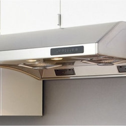 Zephyr - Zephyr 36W in. Hurricane Under Cabinet Range Hood - AK2536B - Shop for Hoods and Accessories from Hayneedle.com! High design and style meet in the Zephyr 36W in. Hurricane Under Cabinet Range Hood taking your kitchen to another level. Just choose from one of the available eye-catching finishes for the perfect complement to your kitchen's decor. Clean-up is a breeze thanks to the 3-speed centrifugal fans that automatically separate grease from air to collect in convenient residue cups. A tap of the touch-sensitive controls give you total control over fans lights and even a delayed-off timer. To your ears' delight this range hood operates whisper quiet.About ZephyrSince 1997 Zephyr has remained true to their vision of delivering the unexpected. Founder Alex Siow embraced the idea that a kitchen hood could do much more than vent air it could be as distinctive in its design as in its performance. Zephyr was first to recognize the demand for powerful professional-grade hoods for the home that were also beautiful. They answered the call with their Power Series of high CFM range hoods that put air quality concerns to rest with quiet efficiency. Zephyr raised the bar with self-cleaning filter-free technologies. Their solid reputation for well-construction high-powered range hoods is matched by their style and design. Fashion-forward and inspired their lines of range hoods include original works from renowned designers Robert Brunner Fu-Tung Cheng and David Lewis.
