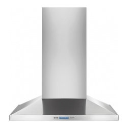 "Electrolux - RH30WC55GS 30"" Wall Mount Chimney Hood  With 600 CFM Internal Blower  2 Halogen - Electrolux brings you the RH30WC55GS Wall Mount Chimney Hood with a 600 CFM Internal Blower It features LCD Electronic Controls An array of versatile options with easy-to-read blue displays including a convenient kitchen timer fan-speed selection and..."