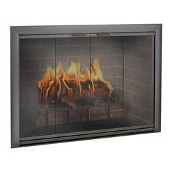 Brookfield Aluminum Fireplace Glass Door - Custom Product -