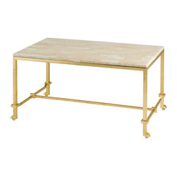 Currey and Company - Currey and Company Delano Modern / Contemporary Coffee Table - Currey and Company Delano Modern / Contemporary Coffee Table X-6214