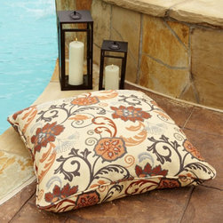Mozaic Company - Mozaic Company Sunbrella 28 in. Square Corded Indoor/Outdoor Pillow - HNPS2652 - Shop for Cushions and Pads from Hayneedle.com! The perfect addition to any outdoor or indoor space! You'll enjoy the Mozaic Company Sunbrella Corded Indoor/Outdoor Large 28 in. Square Floor Pillow.Featuring stain- fade- and mildew-resistant Sunbrella fabric this large floor pillow will bring exceptional comfort and dramatic style to your home s decor. Built with the quality and durability standard of outdoor use these pillows feature a softness perfect for indoor activities like reading a book or watching TV or outdoor activities like lying by the pool. Choose from a huge array of fabric colors and patterns! Sewn closure trimmed with matching cording for added appeal.