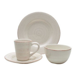Home Decorators Collection - Napa 16-Piece Dinnerware Set - Designed to outlast passing trends, the simple, understated design of our Napa Dinnerware Set will bring enduring style to your home. This 16-piece set includes 4 dinner plates, 4 salad plates, 4 bowls and 4 mugs. Hand painted. Microwave and dishwasher safe.