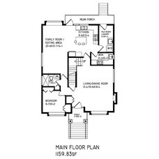 Traditional Floor Plan by Kingswood Home Plans Ltd