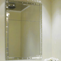 Kim Powder Room Mirror - Stunning mirror done in silver leaf that is embedded into the mirror! It can be purchased through www.jamieshop.com at designer wholesale pricing!