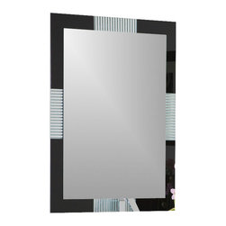 Decor Wonderland Mirrors - Decor Wonderland Francisco Large Frameless Wall Mirror - The beauty of modern design is encompassed in the Francisco Large Frameless Wall Mirror. Do not be fooled by the look of a frame as this beautiful hand made mirror sits atop another mirror creating a framed effect with decorative glass surrounding.