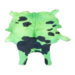 Gambrell Renard - Gambrell Renard Green & Black Cowhide Rug - Gambrell Renard Green & Black Cowhide Rug