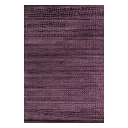 "Loloi Rugs - Loloi Rugs Halton Too Collection - Purple, 5'-3"" x 7'-7"" - For Halton Too, Loloi borrows the power-loomed construction from its original Halton Collection, adding a series of fresh, tonal, chenille/viscose designs in sophisticated fabric-inspired and geometric patterns. The cool, serene palette spotlights on-trend blues, grays and silvers."