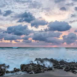 Images by Jon Evan - Ocean Blooms - 30x40 photograph taken in Florida at sunrise. This photograph is mounted on a hard backing as is ready to hang. Ships direct from manufacture