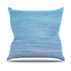 """KESS InHouse - Catherine McDonald """"South Pacific"""" Ocean Water Throw Pillow, Outdoor, 16""""x16"""" - Decorate your backyard, patio or even take it on a picnic with the Kess Inhouse outdoor throw pillow! Complete your backyard by adding unique artwork, patterns, illustrations and colors! Be the envy of your neighbors and friends with this long lasting outdoor artistic and innovative pillow. These pillows are printed on both sides for added pizzazz!"""