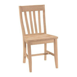 """Newport Cottages - Newport Cottages School House Chair - Newport Cottages creates relaxing and happy nurseries and bedrooms with traditional, bench made furniture. Stylish and functional, this school house chair delivers a classic look to a bedroom or office. This beautiful hand carved seat offers simple and sturdy linear construction in several finishes. Variance in color or texture is possible due to inherent qualities of handcrafted, hardwood furniture. Made in the USA and completed with non-toxic, low VOC finishes. 19""""W x 20""""D x 36""""H*To further customize with additional finish and hardware options, please email shop@laylagrayce.com or call (877) 907-1322 for further details."""