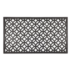 Entryways - Circle Chains Recycled Rubber Doormat - Inspired by the universal circle symbol, this design will add classic grace to any entryway. Intricate and beautiful, it is also durable and easy to clean.