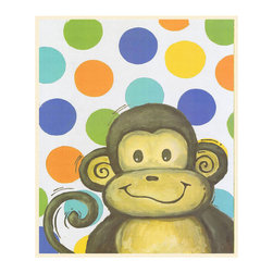 Stupell Industries - Lil Buddy Monkey and Blue Zebra Wall Print Wall Plaque - Made in USA. MDF Fiberboard. Hand finished and packed. Approx. 15 in. W x 11 in. L. 0.5 in. ThickThe Kids Room by Stupell features exceptional handcrafted wall decor for children of all ages.  Using original art designed by in-house artists, all pieces feature hand painted and grooved borders as well as colorful grosgrain ribbon for hanging.  Made in the USA, everything found in The Kids Room by Stupell exudes extraordinary detail with crisp vibrant color. Whether you are looking for one piece to match an existing room's theme, or looking for a series to bring the kid's room to life, you will most definitely find what you are looking for in The Kids Room by Stupell.