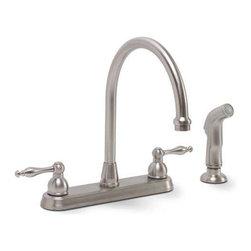 PREMIER - Premier 119266 Wellington Lead-Free Centerset Two-Handle Lavatory Faucet - Features: