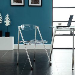 Modway - Clear Telescoping Chair - Ultra-modern and attractive,these chairs are not only a smart choice,they are a stylish one as well.