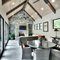 Mediterranean Family Room by Allan Edwards Builder Inc