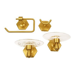Moen - Moen Atwood Brushed Brass 4-piece Accessory Kit J1 - *Update your bathroom decor with new bath accessories
