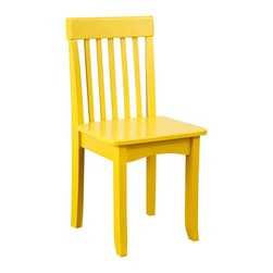 KidKraft - Avalon Chair - Yellow by Kidkraft - Our heirloom-quality Avalon Chair is crafted form solid wood to endure rigorous use through childhood. Available in a variety of colors, mix and match the chairs for a customized look that enhances the decor of your child�s room.