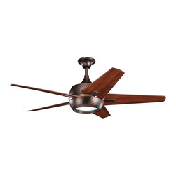 "DECORATIVE FANS - KICHLER FANS 300137OBB Makoda 52"" Contemporary Ceiling Fan - DECORATIVE FANS 300137OBB Makoda 52"" Contemporary Ceiling Fan"