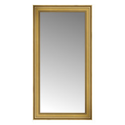 "Posters 2 Prints, LLC - 28"" x 52"" Arqadia Gold Traditional Custom Framed Mirror - 28"" x 52"" Custom Framed Mirror made by Posters 2 Prints. Standard glass with unrivaled selection of crafted mirror frames.  Protected with category II safety backing to keep glass fragments together should the mirror be accidentally broken.  Safe arrival guaranteed.  Made in the United States of America"