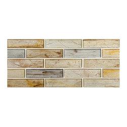 "Zumi Structured Glass - Iribeon Natural 1"" x 4"" Brick - Iribeon Natural 1"" x 4"" Brick"