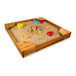 Kidkraft - KidKraft Backyard Sandbox - Sandbox playtime is always fun, and with this deluxe sandbox in your back yard, your house will be the most popular play destination on the block.