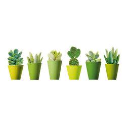 SLÄTTHULT Decorative stickers - Decorative stickers, mini cactus