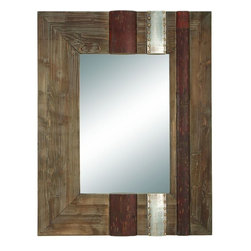 Benzara - 36in. High Wood Mirror Beautifully Designed Rectangular - WOOD MIRROR is an excellent anytime low priced wall decor upgrade option that is high in modern age decor fashion. Get this amazing wall art and flaunt your interior decor in style.