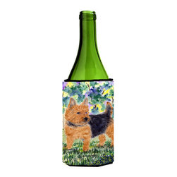 Caroline's Treasures - Norwich Terrier Wine Bottle Koozie Hugger SS8218LITERK - Norwich Terrier Wine Bottle Koozie Hugger SS8218LITERK Fits 750 ml. wine or other beverage bottles. Fits 24 oz. cans or pint bottles. Great collapsible koozie for large cans of beer, Energy Drinks or large Iced Tea beverages. Great to keep track of your beverage and add a bit of flair to a gathering. Wash the hugger in your washing machine. Design will not come off.