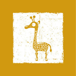 Homeworks Etc - Homeworks Etc Amber Giraffe Safari Jungle Animal Themed White Canvas Wall Art - Enjoy this fun Jungle Animal themed Canvas Art is a classic design to add to your nursery. Great for a baby shower or birthday gift.  It's light weight design is easy to hang.  Measures 10 x 10 x 1.5 inches.  Perfect for use in  a children's bedroom.