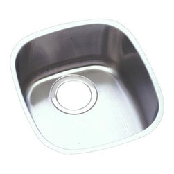 Elkay - Harmony Lustertone Undermount Sink - ELUH1113 - Choose Sink Package: Sink OnlyManufacturer SKU: ELUH1113. Material: Stainless SteelFaucet Holes: 0Thickness: 18 GaugeCode Compliance: IAPMOSound Deadening: Sound Guard®Number of Bowls: 1Minimum Cabinet Size: 18 in.Sink Dimensions: 14 1/4 in. L x 15 3/4 in. WPrimary Bowl Depth: 5 15/16 in.Bowl Dim.: 11 3/4 in. x 13 1/4 in. x 5 15/16 in.Drain Size: 3 1/2 in.