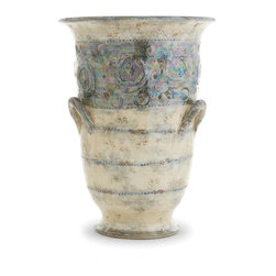 Arte Italica - Lustro Tall Vase - Unique, one-of-a-kind pieces give your home a style signature. Case in point, this lovely vase — handmade in Italy, it features warm, subtle colors and a rich, iridescent glaze to add charm to your favorite setting.