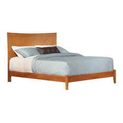 Atlantic Furniture - Atlantic Furniture Miami Modern Platform Bed with Open Footrail in Caramel Latte - Atlantic Furniture - Beds - AP8731007 - The Miami Platform Bed is a new model here at Atlantic Furniture. It has a modern feel with its slightly concave arch design, flat panel headboard. This is a bed you'll want to show off right away. Sleek styling and a ravishing deep dark finishes accents the modern look. It may be set high to accommodate the optional Milano flat panel storage drawers or set low for the popular platform bed look.