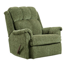 Chelsea Home Furniture - Chelsea Home Rocker Recliner in Tahoe Green - Rocker Recliner in Tahoe Green belongs to Verona IV collection by Chelsea Home Furniture.