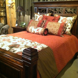 Custom Bedding - This custom bedset was made by our High Country Furniture & Design Custom Workroom!