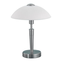 Eglo - Eglo 85104 Solo 1 Single-Bulb Touch-Dimming Table Lamp - Solo 1 Single-Bulb Touch-Dimming Table LampWith the options available in the Solo 1 collection, you are sure to find a lamp that suits your décor. Boasting robust finishes and touch-activated dimming, these innovative lamps certainly do not disappoint.Product Features: