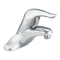 "Moen - Moen L4601 Chrome Bath Sink Faucet Single Lever Handle 4"" Centerset, ADA - Moen L4601 is part of the Chateau Bath collection. Moen L4601 is a popular style bathroom lavatory, sink faucet. Moen L4601 has a Chrome finish. Moen L4601 mounts in a 3-hole sink, has a 7"" high and 4 3/8"" long spout, with a full 2"" from deck to aerator. Moen L4601 includes Moen's 1225 Cartridge. The Chateau bath collection has modern rounded styling and classic clean curves that keep the classical meaning around in any homes decor. Moen L4601 does not include a waste assembly. Moen L4601 single Lever handle provides ease of operation. Chrome is a proven finish from Moen and provides style and durability. Moen L4601 metal lever handle meets all requirements of ADA CSA B125.1, ASME A112.18.1, NSF 61/9, and proposition 6"". Water Sense Certified. Lifetime limited Warranty."