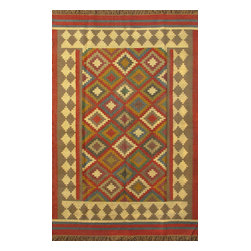 Rugsville - Rugsville Rug Southwestern Hand Woven 13703-69 Brown Red - There are some abstract patterns that will go well along your modern home decor. You may even want to get some of these carpets for your living room and spacious places. There are different choices in colors, sizes and shapes as well. 100% Natural wooland Jute. Extremely durable for high traffic areas. Meticulously woven flat-weave rug handmade in India. Made by skilled artisans in the villages of North Central India with careful attention given to the pattern detailing.