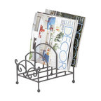 Benzara - Metal Plate Holder 10in.H, 8in.W - Made with silver alloy Size - 8 in. x7 in. x10 in.