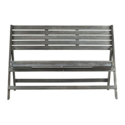 Safavieh - Asta Outdoor Folding Bench - Asta Outdoor Folding Bench