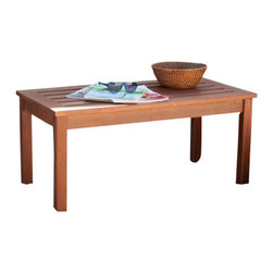 Holly and Martin - Beagan Hardwood Cocktail Table - Oil Finish - Add convenience and style to any outdoor space around your home with this lovely hardwood cocktail table. It's a beautiful way to add space for entertaining and decor to your outdoor area.