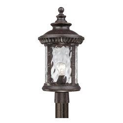 quoizel - Quoizel Lighting Chimera 1 Light Outdoor Post Lantern in Imperial CHI9011IB - Quoizel Lighting Chimera 1 Light Outdoor Post Lantern in Imperial Bronze CHI9011IB