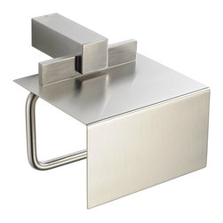 Fresca - Fresca Ellite Toilet Paper Holder - All of our Fresca bathroom accessories are made with brass with a triple brushed nickel finish and have been chosen to compliment our other line of products including our vanities, faucets, shower panels and toilets. They are imported and selected for their modern, cutting edge designs.