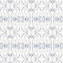 "Lindsay Cowles - 43014 Wallpaper, Blue White, Roll 24""x144"" - Self Adhesive Wallpaper"