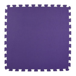 Greatmats - Greatmats Foam Floor Tile, 10 Pack, Purple - This is a 10 pack of tiles. Free Shipping. Each tile is 2x2 ft in size and covers 4 SF, this 10 pack of foam tiles will cover 40 SF. 2 Border strips included per tile. Ships ground to your door.