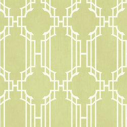 Ballard Designs - Lattice Sidewall Wallpaper Mint Green/White Double Roll - Double roll. Pre-pasted. Washable. Strippable. A contemporary twist on a traditional classic, this textural wallpaper takes the basic traditional stripe motif and adds a layer of sophistication with an elegant lattice design resting on top. Lattice Sidewall Wallpaper features: . . . .